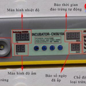 bảng điều khiển máy ấp trứng tự động